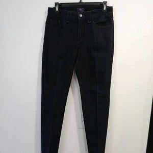 NYDJ Straight Leg Black Jeans size 6
